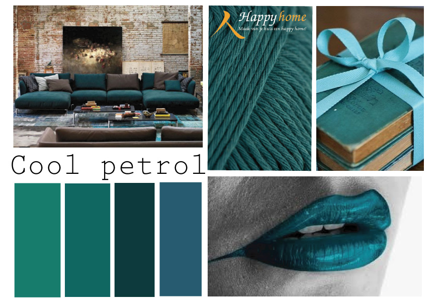 Inrichting woonkamer blauw for Petrol accessoires woonkamer