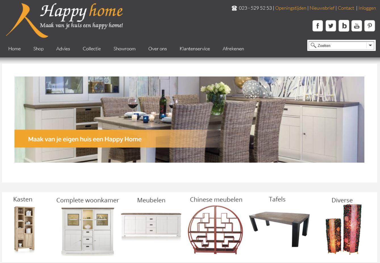 Woonwinkel Happy Home website