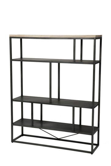 Industriele boekenkast industrieel rek ijzer hout 1018-large